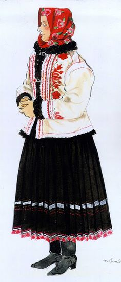 Slovak region around Ždiar. FolkCostume & Embroidery