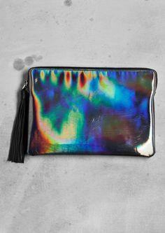 Glossy rainbow clutch | Metallic | & Other Stories