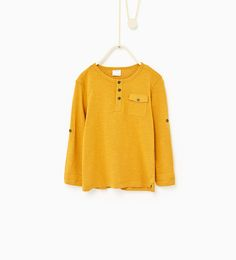 Image 1 of Button neck top from Zara