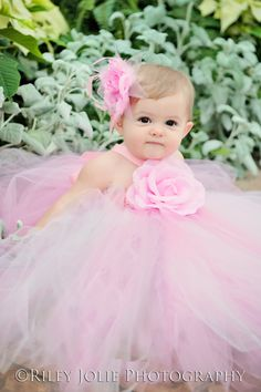 Multi Pink Couture Flower Girl Tutu Dress/ by princesstutus2010
