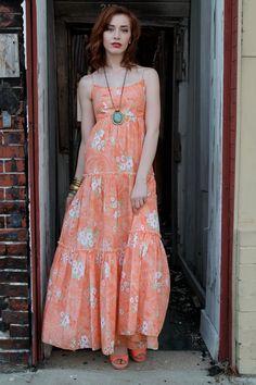 Vintage Hippie Dress Hippy Dress Festival Dress Summer by shopEBV