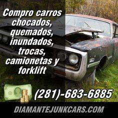 Te damos dinero por tu auto Junk, en Houston Texsas Cars, Vehicles, Houston, Autos, Car, Car, Vehicle, Automobile, Tools