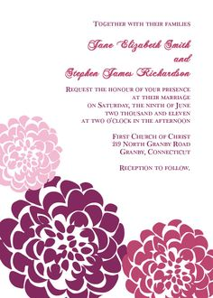 221 Best Wedding Invitation Templates Free To Print Images Home