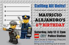 LEGO City Police Printables Invitation