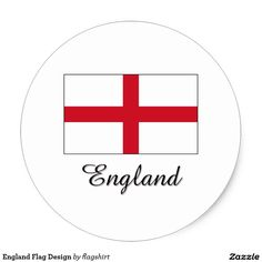 England Flag Design Classic Round Sticker