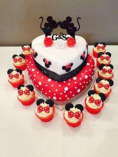 Mickey & Minnie engagement cake
