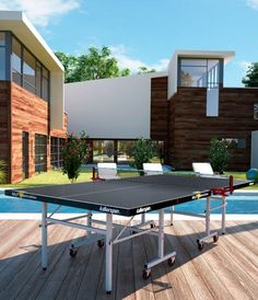 If you are looking for a premium table to enjoy outdoors, look no further. This Outdoor Table Tennis Table exudes the Killerspin brand. As stylish as it is practical, the MyT Street Edition is made to satisfy your competitive urges or to simply unplug and play with friends and family.