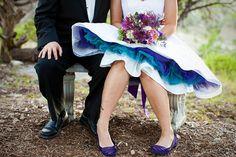 I LOVE the colored crinoline! Reception DRESS! via Jen and Josh-37.jpg by whitneylee, via Flickr via offbeatbride.com