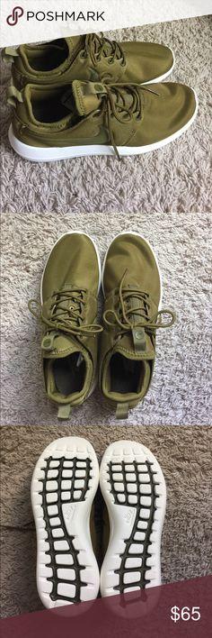 Olive Nike Roshe 2 Never worn! Size 9 women's. Nike roshe 2 Nike Shoes Athletic Shoes
