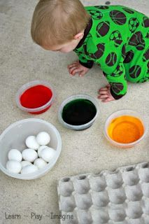 Tips and tricks for dyeing Easter eggs with toddlers