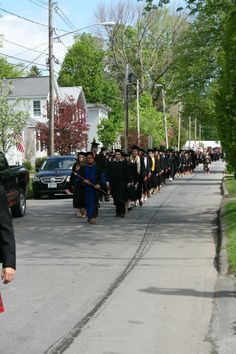 Dr. Adamo and the Class of 2014 processing to the Quad. Photo by The Cazenovian #Caz2014