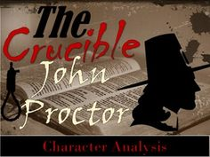 John Proctor's Identity Crisis!After reading Act Four in Arthur Millers The Crucible students have to understand John Proctor as a dynamic character.  Does Proctor pass his crucible?  Does he finally redeem himself after that fatal mistake?  Does he recover from his identity crisis?Students will create John Proctors character using a magazine cutout figure.