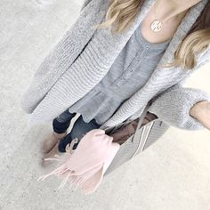 cardigan and thermal top winter outfit inspiration @sunsetnstiletto