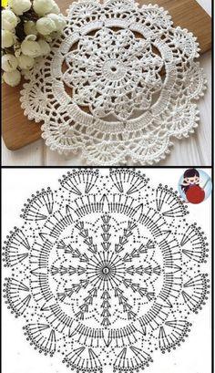 Free Crochet Doily Patterns, Crochet Coaster Pattern, Crochet Designs, Crochet Doily Diagram, Thread Crochet, Crochet Crafts, Crochet Projects, Crochet Dollies, Crochet Flowers