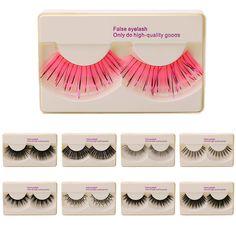Natural Eyelash Handmade Eye Fake Lashes False Eyelashes Rhinestone Black 9 Type #Unbranded