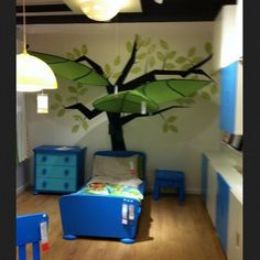 ikea leaf canopy coming out of tree decal painting big. Black Bedroom Furniture Sets. Home Design Ideas
