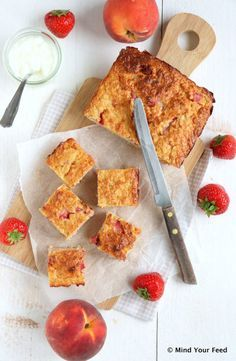 Havermout yoghurt cake - Mind your feed Healthy Snacks For Diabetics, Good Healthy Recipes, Low Carb Recipes, Sweet Recipes, Snack Recipes, Dessert Recipes, Pastry Recipes, Vegetarian Recipes, Healthy Cake
