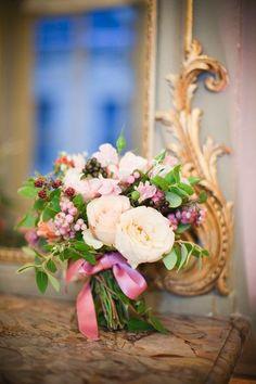 bouquet, avec framboises