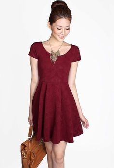 casual maroon dresses - Google Search