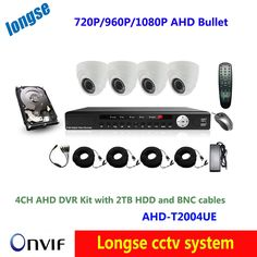 451.00$  Buy now - http://ali3y2.worldwells.pw/go.php?t=32720437679 - 4 channel  cctv video AHD dvr kit surveillance system 4pcs AHD 720p/960p/1080p indoor dome camera infrared waterproof 2TB hdd