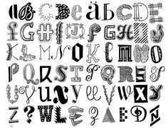 hand drawn lettering - Letters 74 by Don Moyer, via Flickr