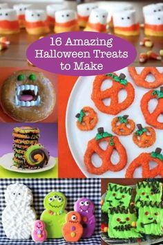If you love holidays and especially Halloween, you'll have to make one of these 16 Halloween treats. They are amazingly delicious!