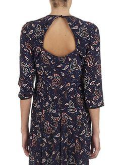Robe longue imprimé Rochelle Bleu by CLAUDIE PIERLOT