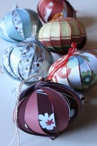 Make these lovely ornaments from paper scraps or old greeting cards.