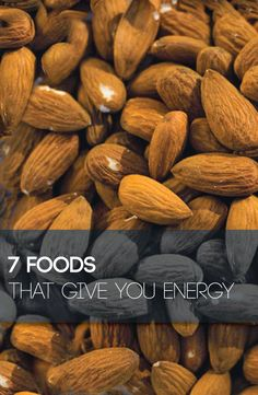 When most people get that sleepy feeling around 2 o'clock in the afternoon they generally depend on energy drinks, coffee, and the vending machine to keep them going. However, there are actually healthy foods that give you energy which will not only increase your energy level, but provide you with vital nutrients.