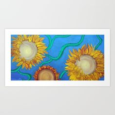 Sunflowers by Laura Barbosa Gifts For Art Lovers, Sunflower Art, Sunflowers, Stocking Stuffers, Fine Art Prints, Artist, Artists, Sunflower Seeds