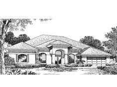 Mediterranean House Plan with 2221 Square Feet and 4 Bedrooms from Dream Home Source | House Plan Code DHSW18422