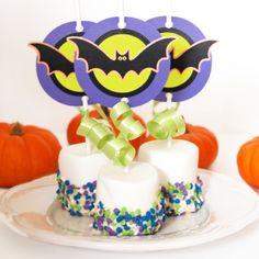 Ideias de decoração para festas de Halloween: marshmallows decorados