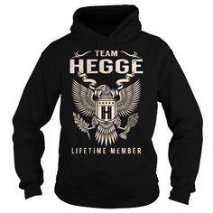Cool Team HEGGE Lifetime Member - Last Name, Surname T-Shirt T shirts