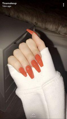 P I N T E R E S T : @kyleighrreese  P I N T E R E S T : 𝕜𝕪𝕝𝕖𝕚𝕘𝕙 𝕤𝕡𝕣𝕚𝕟𝕘𝕖𝕣 Orange Nail Designs, Acrylic Nail Designs, Pastel Nails, Pink Nails, Glitter Nails, White Nails, Nagel Gel, Best Acrylic Nails, Orange Acrylic Nails