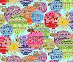 candy sky fabric by scrummy on Spoonflower - custom fabric