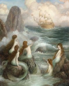 "megarah-moon: ""  ""The Five Sisters"" by Annie Stegg From Hans Christian Andersen's ""The Little Mermaid"" """