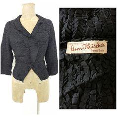 Ann Fleischer Cardigan Jacket Size Large Silk by JadeDesignVintage