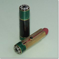 Lipstick, ca. 1925.     From the Lippenstift Museum.