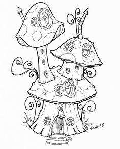 Cute romantic mushroom house for magic fairy or gnome ...