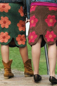 fabulous crochet skirts! by tangled