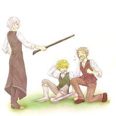 Break, Oz and Elliot || Pandora Hearts