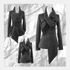 SALE  Fleece Sweater Jacket with Statement by ErinAlexandraKlym, $145.00