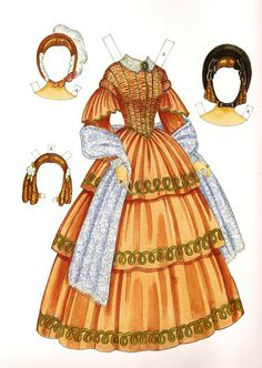 Godey& Early Victorian Fashions Paper Dolls , by Ming-Ju Sun. Victorian Paper Dolls, Vintage Paper Dolls, Paper Art, Paper Crafts, Foam Crafts, Paper Dolls Printable, Paper Toys, Victorian Fashion, Victorian Dresses