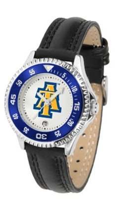 North Carolina A & T Aggies Competitor Ladies Watch with Leather Band: The hottest sports… #SportingGoods #SportsJerseys #SportsEquipment