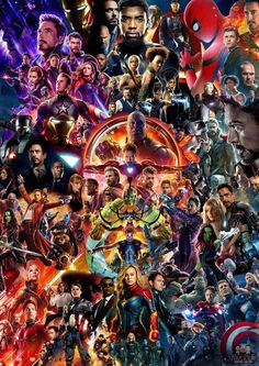Mcu Movie Collage Poster Avengers Endgame Iron Man Thor Spider-Man Us - Marvel Captain Marvel, Hero Marvel, Marvel E Dc, Marvel Films, Marvel Funny, Marvel Memes, Marvel Universe Characters, Funny Avengers, Avengers With Spiderman