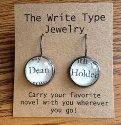 Colleen Hoover Hopeless Dean Holder Earrings by TheWriteTypeJewelry on Etsy