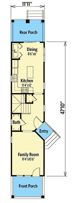 120 Best Ultra Narrow Floor Plan Images
