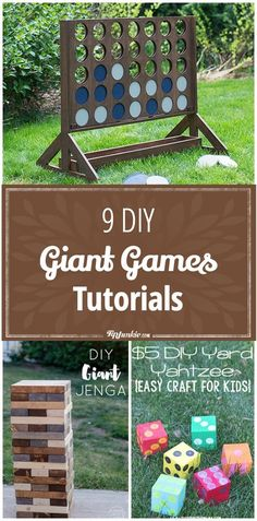 9 DIY Giant Games Tutorials by @TipJunkie