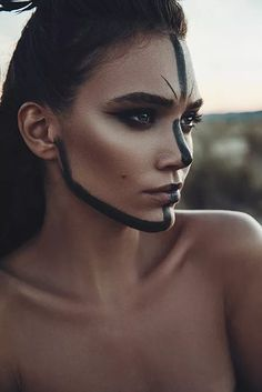 woman standing with black paint on her face photo – Free Face Image on Unsplash High Fashion Photography, Creative Photography, Editorial Photography, Portrait Photography, Portrait Editorial, Glamour Photography, Professional Photography, Lifestyle Photography, Face Images