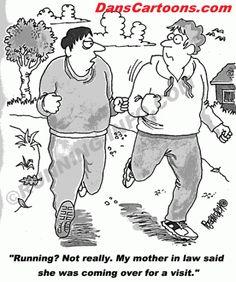 funny running cartoons photo